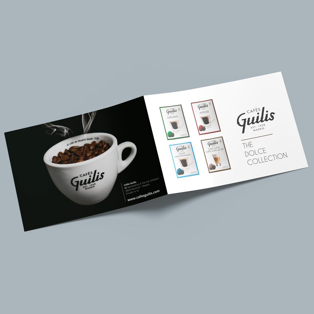 diseno folleto cafes guilis